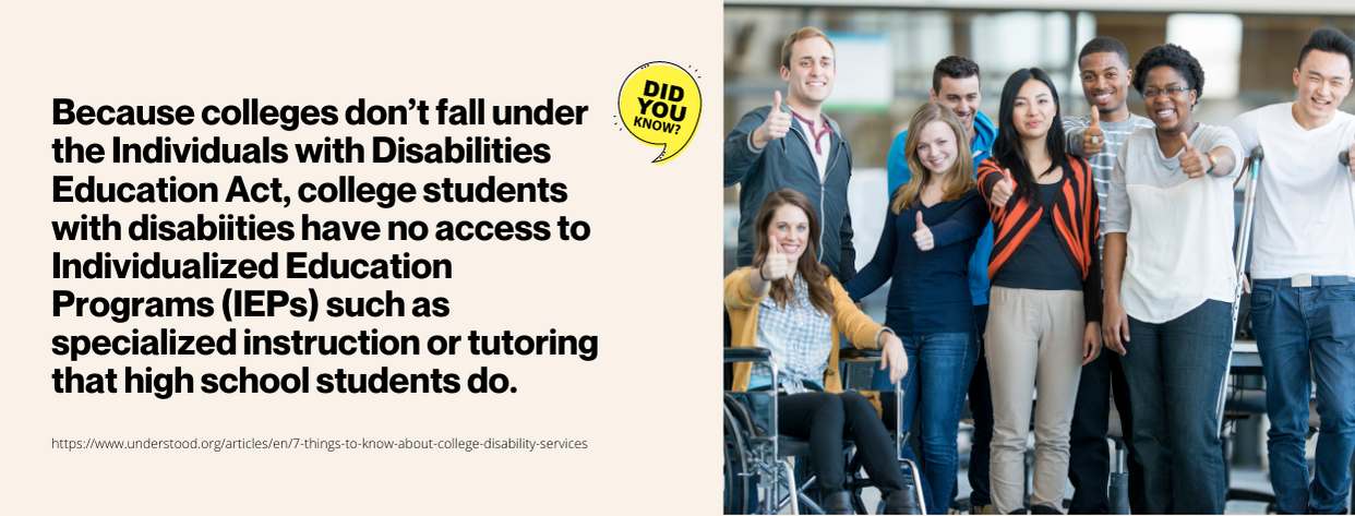College Disability Programs - fact 2